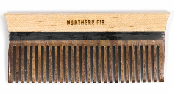 Northern Fir Maple And Walnut Pocket Comb