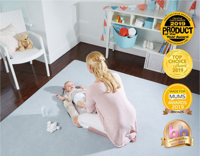 The Wriggler award winning changing mat for babies who wriggle at diaper nappy changing