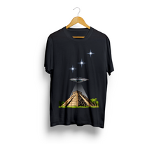 Load image into Gallery viewer, Exspiravit UFO Orion Mayan Pyramid Unisex Tee