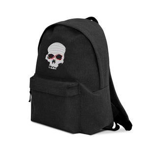 Exspiravit Skull Embroidered Backpack
