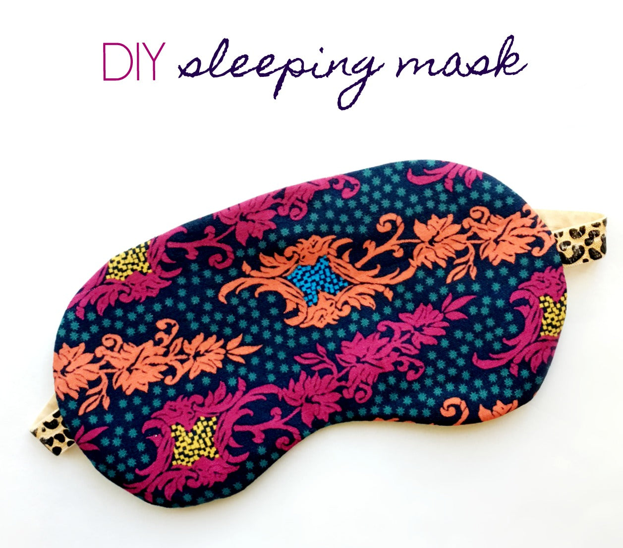 How to sew a sleep mask