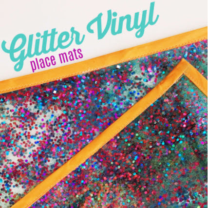 DIY EASY SEW Vinyl Place Mat with GLITTER
