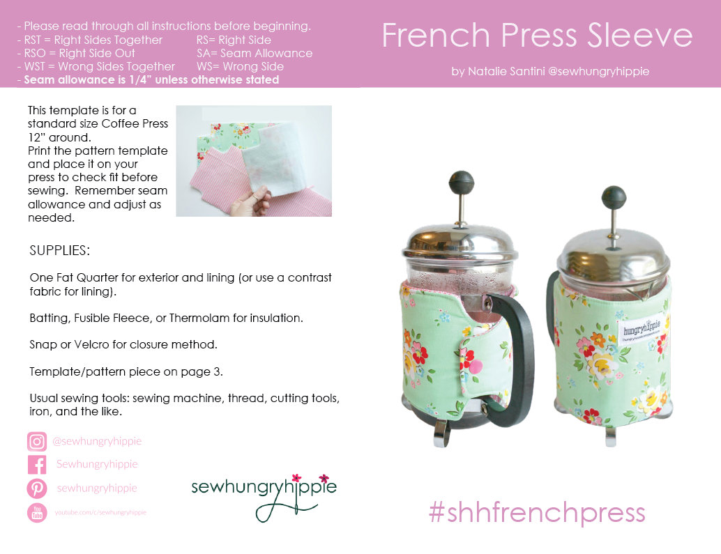 French Press Coffee Sleeve