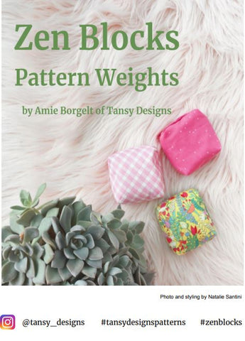ZEN BLOCKS Pattern Weights  PDF pattern by Tansy Designs