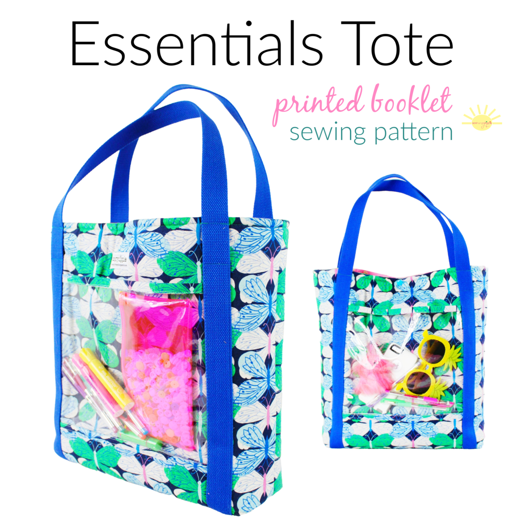 The Essentials Tote printed pattern