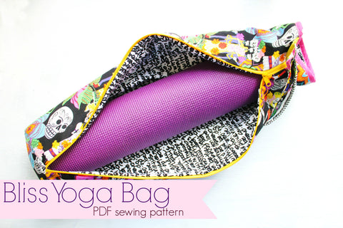 Bliss Yoga Bag with zippered closure PDF SEWING pattern