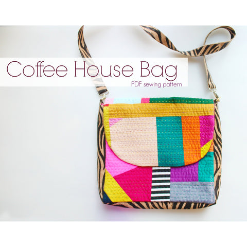 Bag Sewing Pattern  /  PDF download  / Coffee House Bag  /