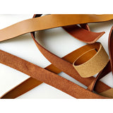 "3/4"" wide Leather Bag Straps handles 100% real leather"