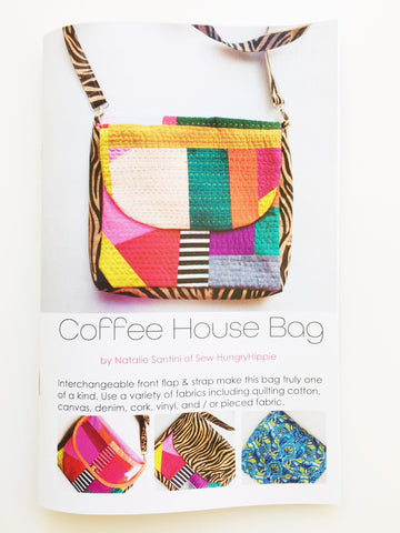 Coffee House Bag printed sewing pattern booklet
