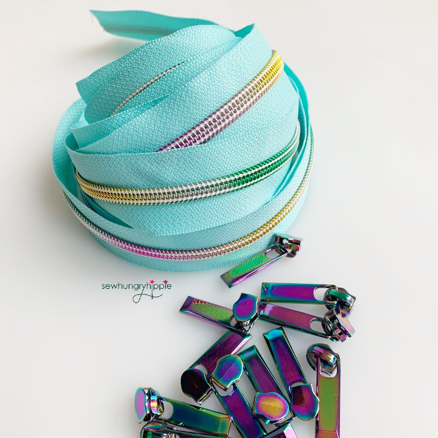 #5 Zipper Mint & Rainbow Pack