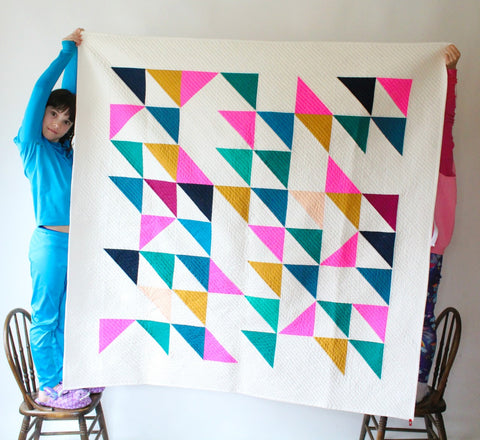 Playful Triangles Quilt pattern PDF