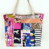 The Santorini Tote printed pattern