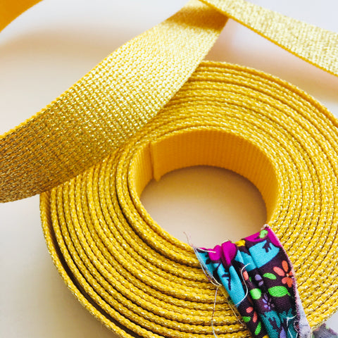 Glitter Webbing Gold 5 yd bundle