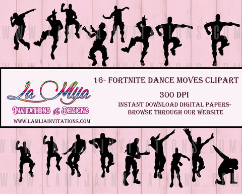Fortnite Clip Arts, Instant Download, Fortnite Dance Moves Clip Art - Addi Creations