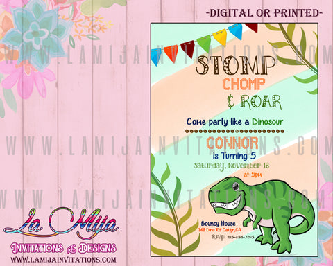Dinosaur Invitations,Dinosaur Birthday Invitations, Dinosaur Birthday Theme