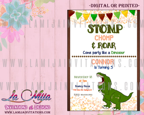 Dinosaur Invitations, Dinosaur Birthday Invitations, Dinosaur Party Theme, Invitaciones Dinosaur