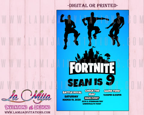 Fortnite Invitations, Customized Item, Fortnite Birthday Invitations, Fortnite Party Invites