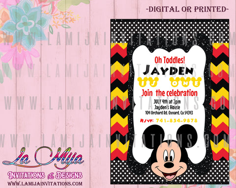 Mickey Invitations, Mickey Mouse Invitations, Mickey Mouse Club House
