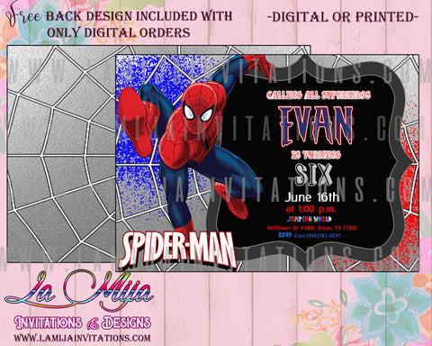 Spideman Birthday Invitations, Spiderman Invitations, Invitaciones Spiderman, Fiesta Spiderman, Spiderman Birthday Ideas