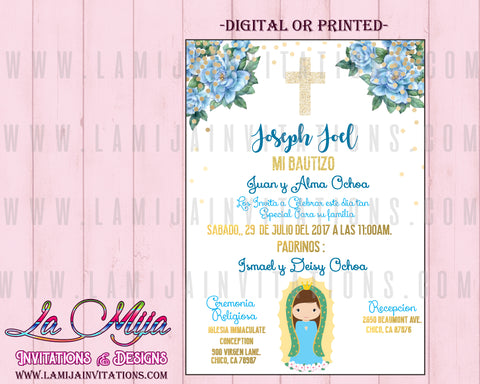 Virgencita Boy Invitations, Virgencita Invitations, Virgencita Baptism, Virgencita Invitations, Virgencita Party Ideas, Bautizo Virgencita, Invitaciones Virgen