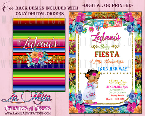 BabyFiesta Invitations, Customized Item, Mexican Theme Baby Shower Invitations - Addi Creations