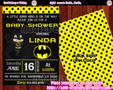 Superhero Baby Shower Invitations, Batman Baby Shower Ideas, Batman Baby Shower Invitations, Invitaciones Batman Baby Shower, Batman Baby Shower Party - Addi Creations
