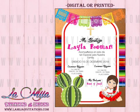 Baby Fiesta Invitation, Customized Item, Mexican Theme Baby Shower Invitations, Charra Invitations, 21,Senorita Baby Shower - Addi Creations