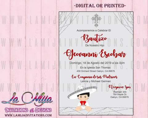 Charro Invitations, Customized Item, Charro Baptism Invitations