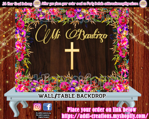 Mexican Backdrop, Mexican Baptism, Bautizo Backdrop, Bautizo Party Decor, Bautizo Fondo, Decoraciones Bautizo, Baptism Backdrops, Baptism Digital Backdrops, Baptism Decor,Mexican Baptism Decor, Mexican Theme Backdrops,  Spanish Baptism Backdrops - Addi Creations