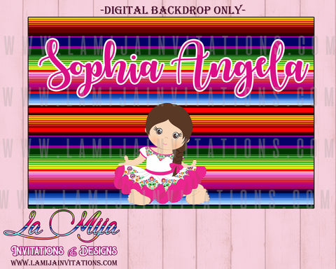 Baby Fiesta Backdrops, Customized Item, Baby Fiesta Theme, Digital Baby Fiesta Backdrops, Mexican Baby Shower Backdrops, Fiesta Theme Baby Shower - Addi Creations