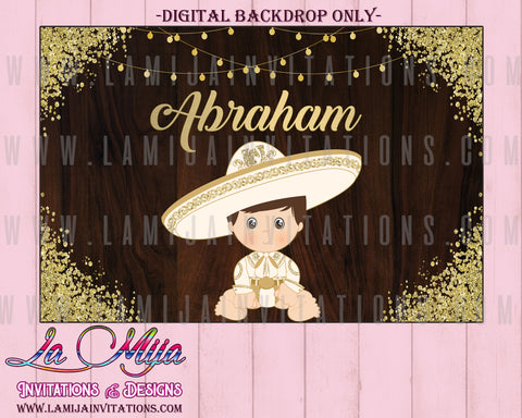 Charro Backdrop, Customized Item, Charro Theme Party, Digital Charro Backdrop, Charro Birthday, Charro Baptism, Fiesta Charro, Tres Anos Charro - Addi Creations