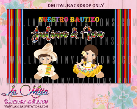 Charro Backdrop, Twin Charro Backdrop, Customized Item, Digital Charro Backdrop