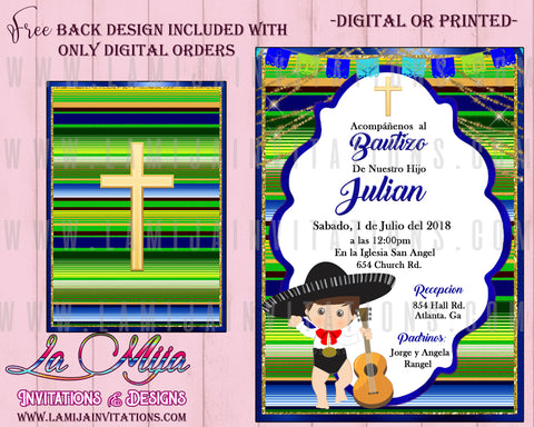 Charro Baptism, Customized Item, Charro Baptism Invitations, Mexican Baptism Invitations, Fiesta Mexican Baptism, Serape Invitations, Mexican Baptism Party Ideas, Charro Party Ideas, Bautizo Charro, Bautizo Mexicano Invitaciones, Bautizo Invitaciones