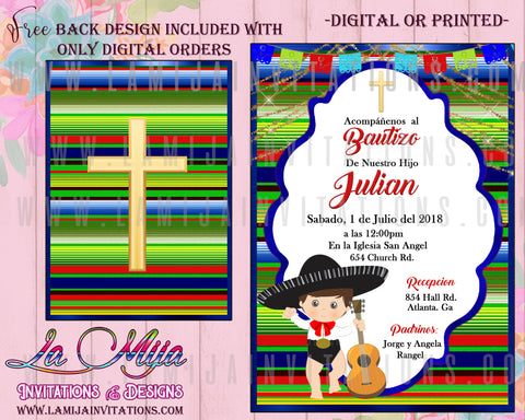 Charro Baptism, Customized Item,  Charro Baptism Invitations, Charro Bautizo Invitations, Mexican Fiesta Baptism, Mexican Fiesta Baptism Invitations,, Fiesta Charro Invitations, Charro Baptism Ideas, Charro Invitations