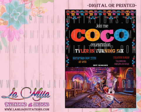 Cococ Invitations, Coco Disney Birthday Invitations, Coco Birthday Invitations, Disney Coco, Invitaciones Coco