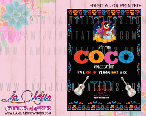 Coco Birthday Invitations, Coco Invitations, Disney Coco Invites, Invitations Coco