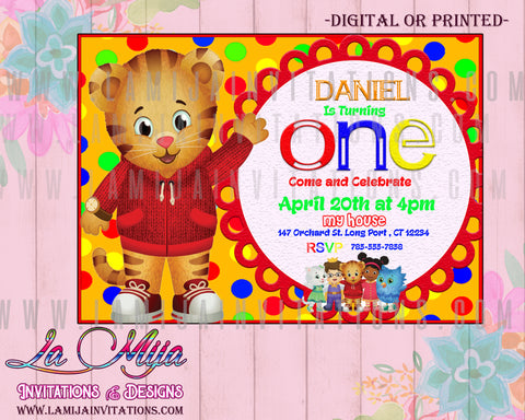 Daniel Tiger, Daniel Tiger Invitations, Invitaciones Daniel Tiger, Daniel Tiger Party Ideas, Daniel Tiger Birthday