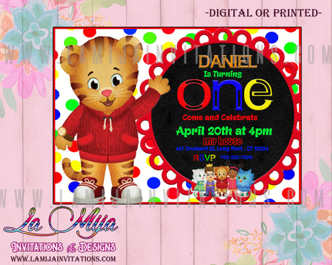 Daniel Tiger First Birthday,  Customized Item, Daniel Tiger Party Ideas, Daniel Tiger Invitations, Invitaciones Daniel Tiger, Daniel Tiger