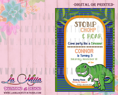 Dinosaur Invitations,Dinosaur Birthday Invitations, Dinosaur Birthday Theme, Dinosaur Party Invites
