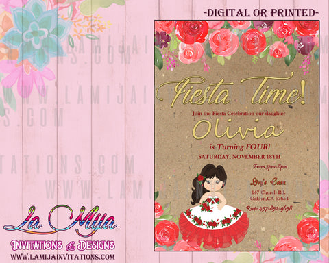 Charra Invitations,  Customized Item,Charra Tres Anos Invitations, Presentacion Invitations, Charra Theme Presentacion, Mexican Theme Birthday Invitations, Invitaciones Charra