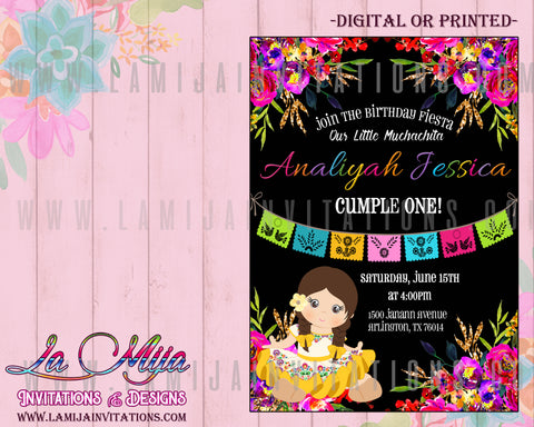 Fiesta Birthday Invitations, Charra Birthday Invitations, Mexican Birthday Invites,