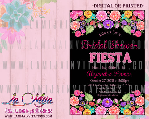Fiest Bridal Shower Invitations, Customized Item,  Mexican Bridal Shower Invitations, Fiesta Theme Bridal Shower, Invitaciones Despedida de Soltera,Mexican Theme Bridal Shower