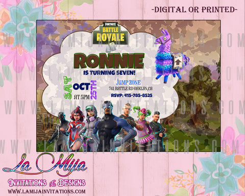 Fortnite Invitations,  Customized Item, Fortnite Birthday Invitations, Fortnite Birthday Theme, Fortnite, Invitaciones Fortnite
