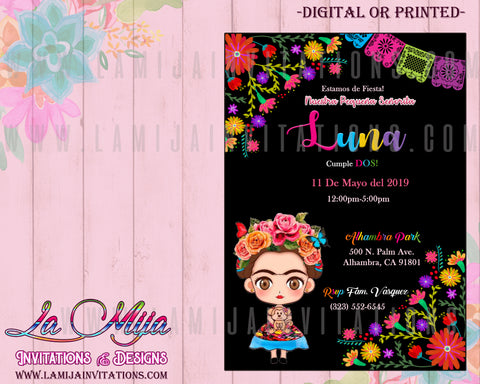 Frida Kahlo Invitations, Customized Item, Frida Kahlo Birthday Invitations, Invitaciones Frida Kahlo - Addi Creations