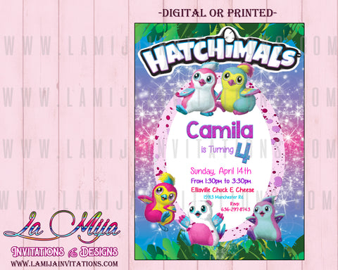 Hatchimal, Customized Item,  Hatchimal Birthday, Hatchimal Invitations, Hatchimal Birthday Ideas, Hatchimal Party Ideas, Invitaciones Hatchimal - Addi Creations