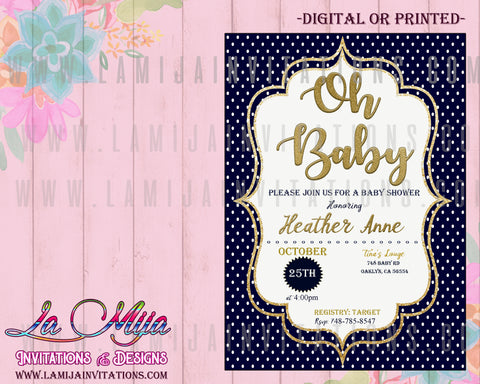 Oh Baby Invitations, Oh Baby Shower Invitations, Boy Baby Shower Invitations, Oh Baby Boy Invitations, Invitaciones Baby Shower Nino