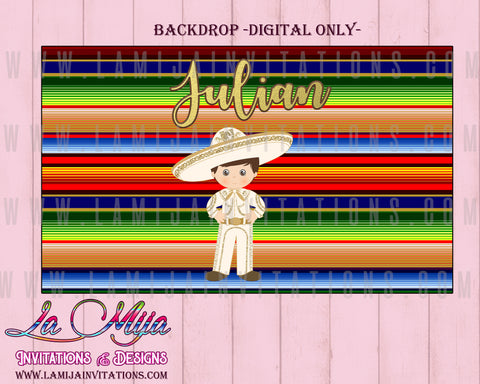 Charro Theme Party, Charro Backdrop, Charro Digital Backdrop, Fiesta Charro, Charro Baptism, Charro Tres Anos - Addi Creations