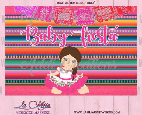 Baby Fiesta Backdrop, Customized Item,  Baby Fiesta Theme Party, Mexican Baby Shower Backdrop, Fiesta Baby Shower, Baby Fiesta Party Theme - Addi Creations