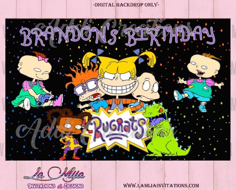 Rugrats Backdrop, Rugrats Birthday Backdrop - Addi Creations