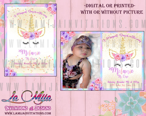 Unicorn First Birthday Theme,Unicorn Birthday Invitations, Unicorn Invites, Unicorn Invitations, Unicorn First Birthday Invitations, Invitaciones Unicornio